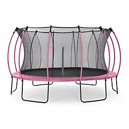 Plum Colours Pink & Turquoise 14ft Trampoline &