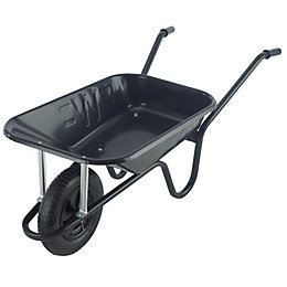 Walsall Contractor Builders Black 85L Wheelbarrow
