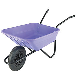 Walsall Black & Lilac 90L Wheelbarrow