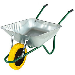 Walsall Green & Yellow 85L Wheelbarrow