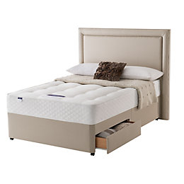 Silentnight Miracoil Mattress Double 2 Drawer Divan Bed