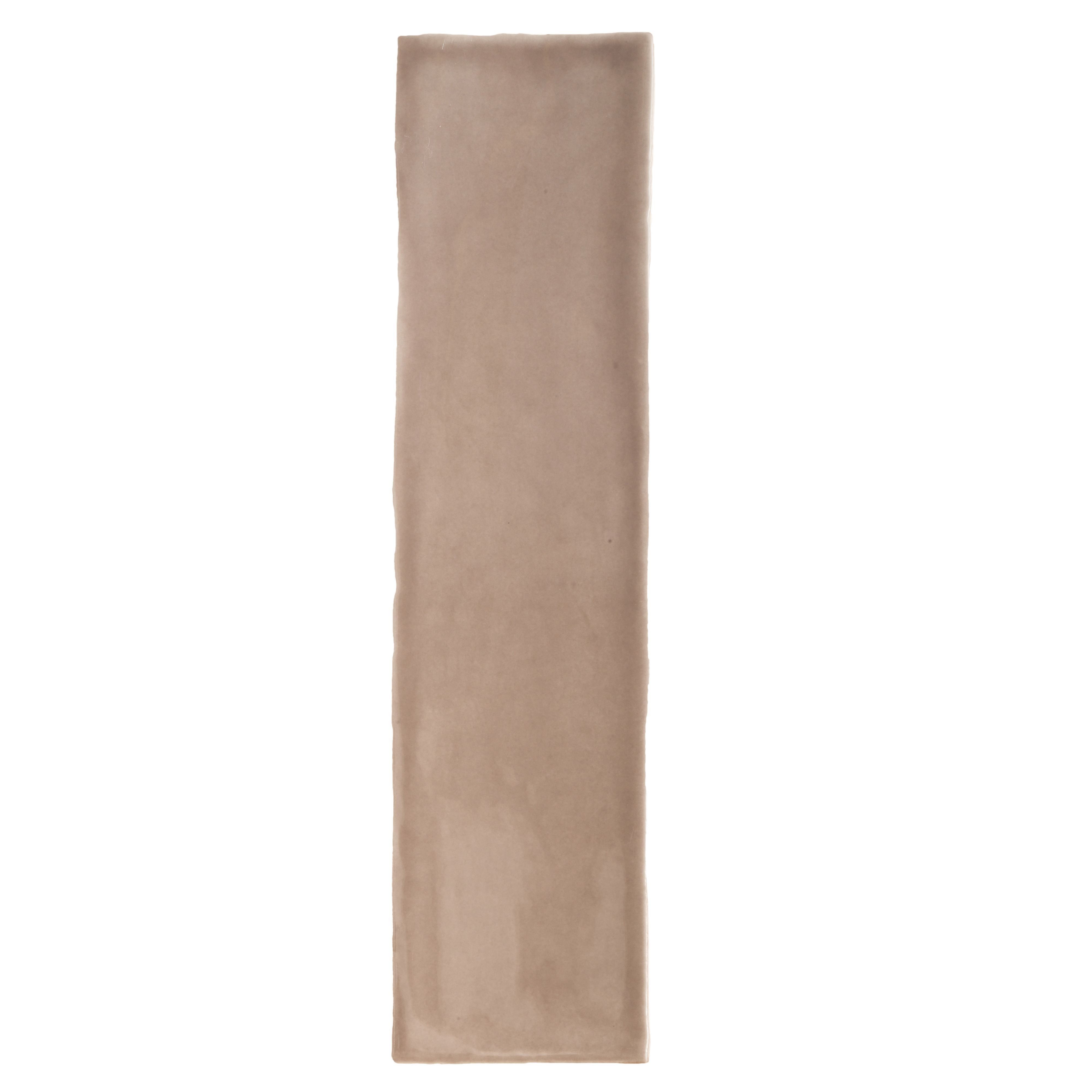 Padstow Taupe Ceramic Wall Tile, Pack Of 22, (l)300mm (w)75mm