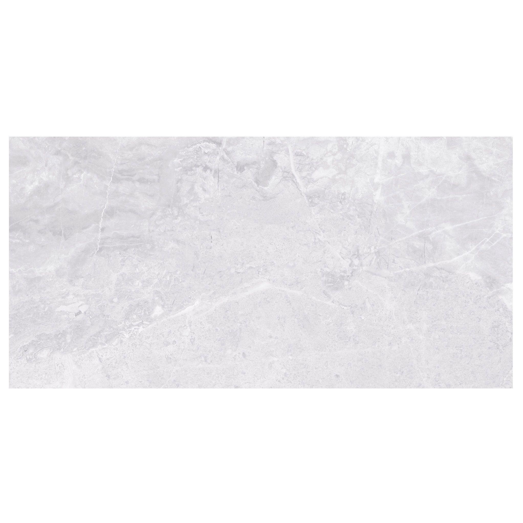 Bq Kitchen Floor Tiles Silverthorne Mist Marble Stone Effect Ceramic Wall Tile Pack Of 8