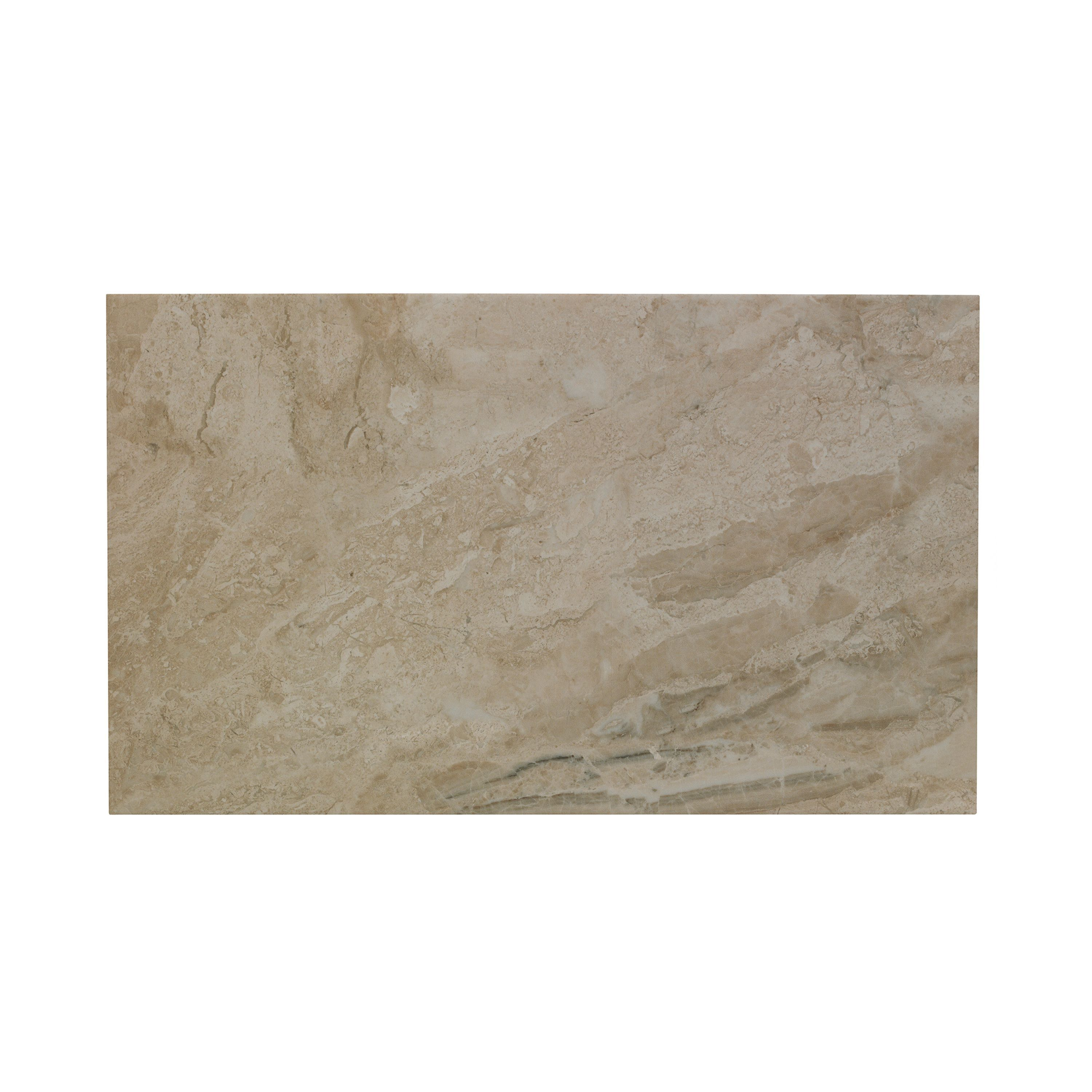 Bq Kitchen Flooring Haver Sand Travertine Effect Ceramic Wall Floor Tile Pack Of 6