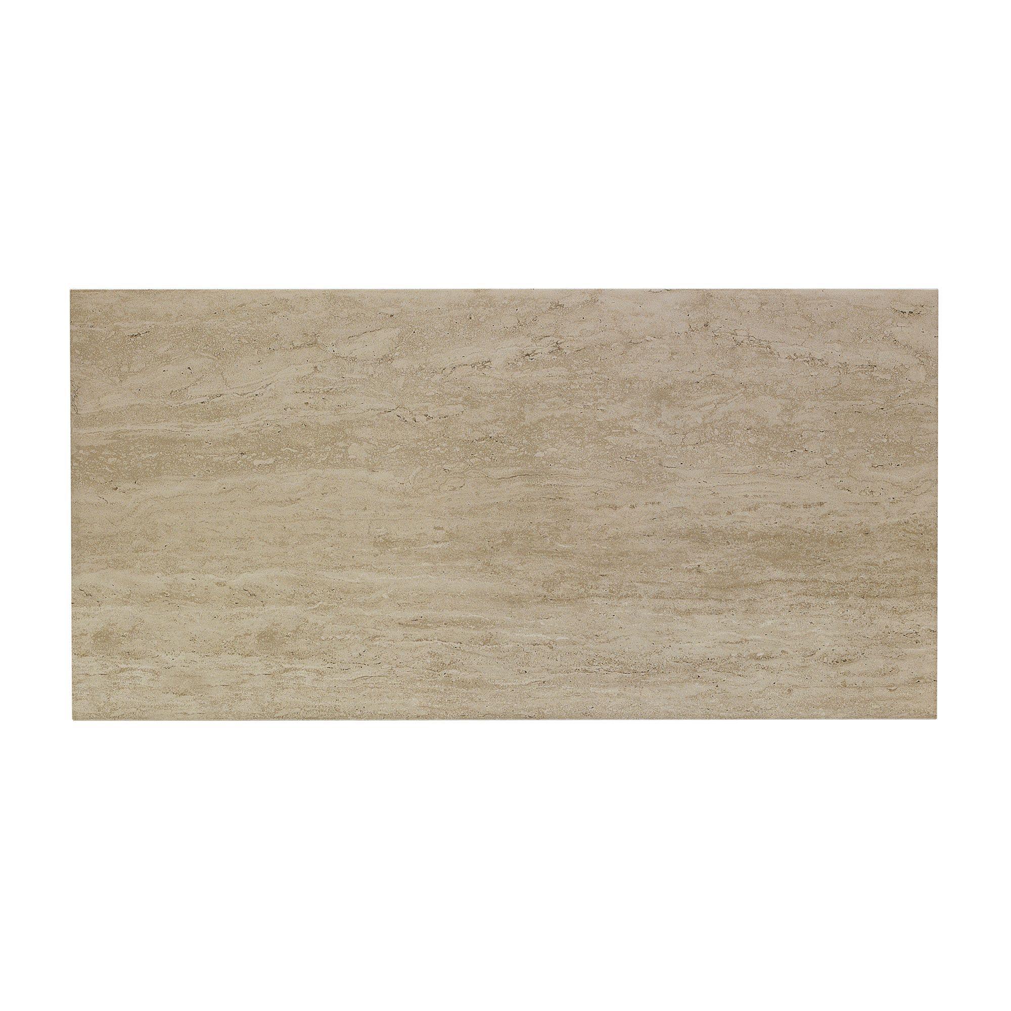 Origin Sand Stone Effect Linear Travertine Ceramic Wall: Origin Sand Linear Travertine Ceramic Wall Tile, Pack Of 8