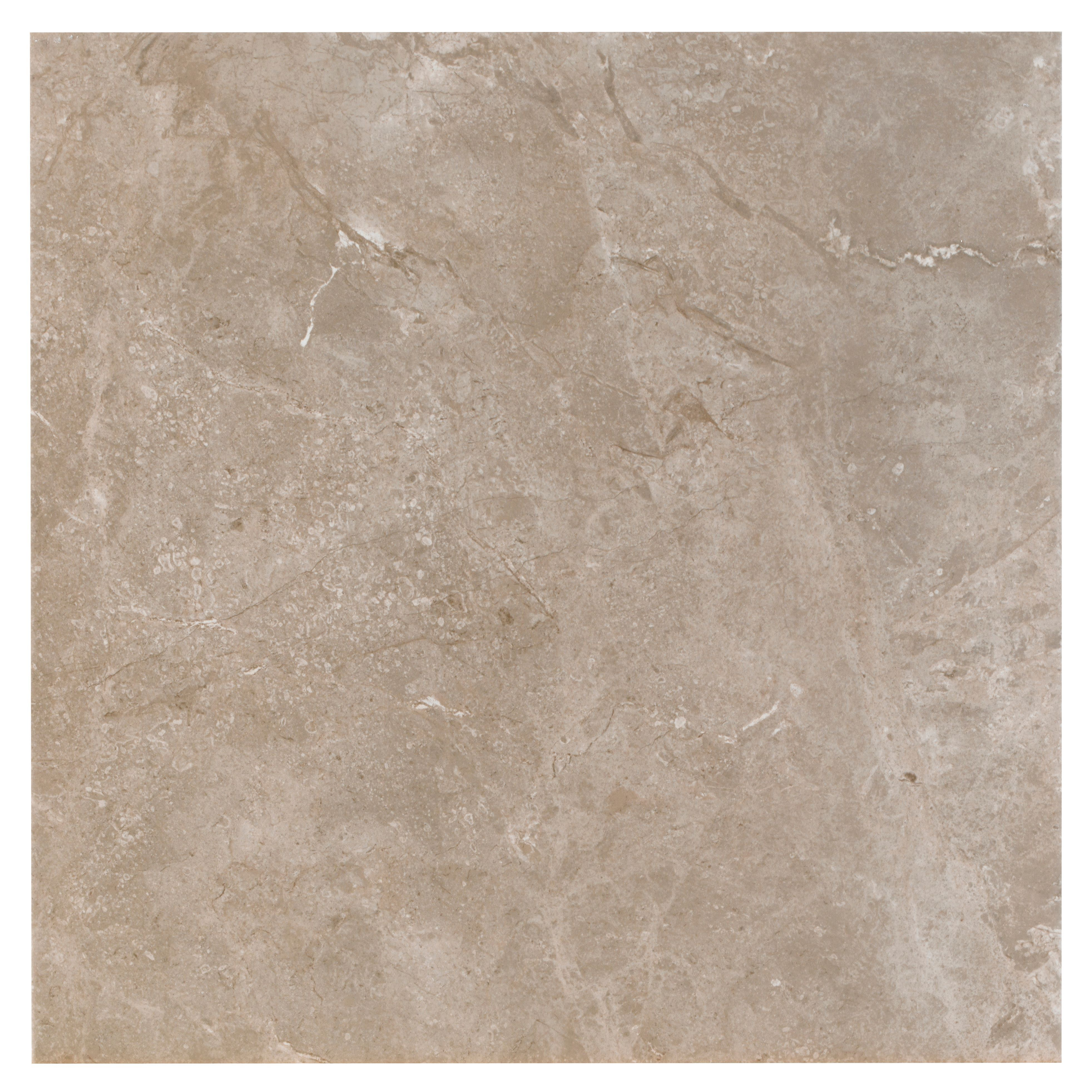 Single Piece Natural Stone Effect Travertine Wall Tile L: Origin Pebble Linear Travertine Ceramic Wall Tile, Pack Of