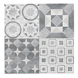 Lofthouse French Grey Patchwork Ceramic Wall & Floor