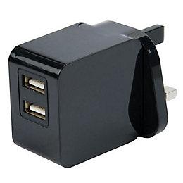 I-Star Black USB Mains Charger