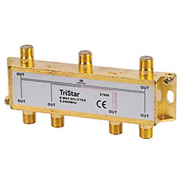 Tristar 6 Way Satellite F Splitter
