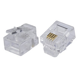 Tristar Clear Rj11 Connectors, Pack of 10