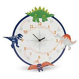 Dino Doodles Dinosaur Children's Analogue Clock