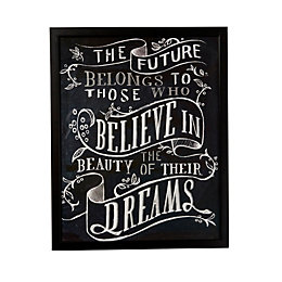 Believe You Can Black & White Framed Print