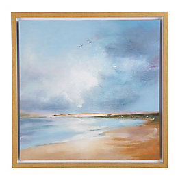 Morning Flight Blue Canvas (W)60cm (H)60cm