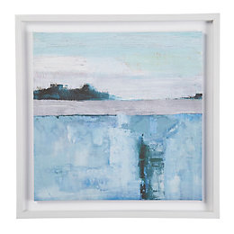 Abstract Seascape Blue Canvas (W)60cm (H)60cm
