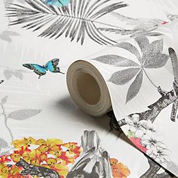Arthouse Mystical Forest Glitter Effect Wallpaper