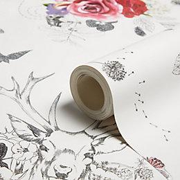 Arthouse Spell Bound White & Multicolour Glitter Effect
