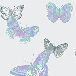 Arthouse Vintage Mariana Lavender Butterflies Glitter Effect