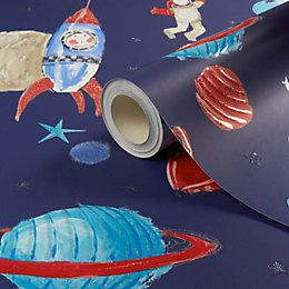 Imagine Fun Blue Starship Wallpaper