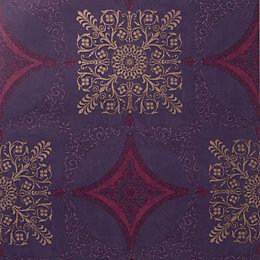 Arthouse Sophie Conran Zaggaro Purple Medallion Shiny Wallpaper