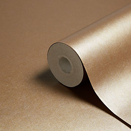 Arthouse Leonardo Gold Leaf Plain Metallic Wallpaper