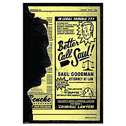 Breaking Bad Better Call Saul Multicolour Poster (W)610mm