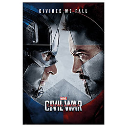 Civil War Face Off Multicolour Poster (W)610mm (H)915mm