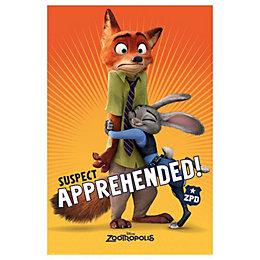 Zootropolis Suspect Apprehended Multicolour Poster (W)61cm (H)91.5cm