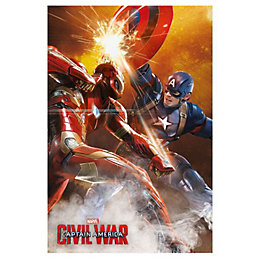 Captain America: Civil War Fight Multicolour Poster (W)61cm