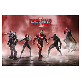 Civil War Team Iron Man Multicolour Poster (W)61cm