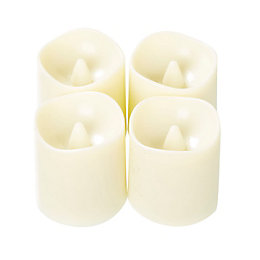 Flameless Unscented LED Tea Light, Pack of 4