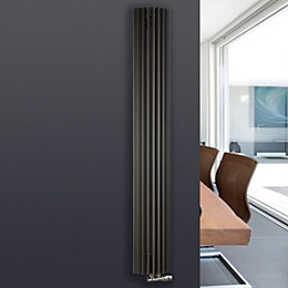 Jaga Iguana Circo Vertical Radiator Anthracite, (H)1800 mm