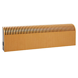 Jaga Knockonwood Wooden Cased Radiator Beech Veneer, (H)300