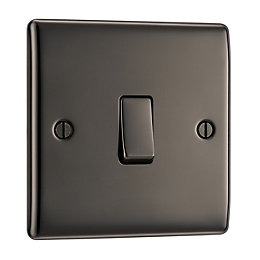 British General 10A 2-Way Single Black Nickel Light