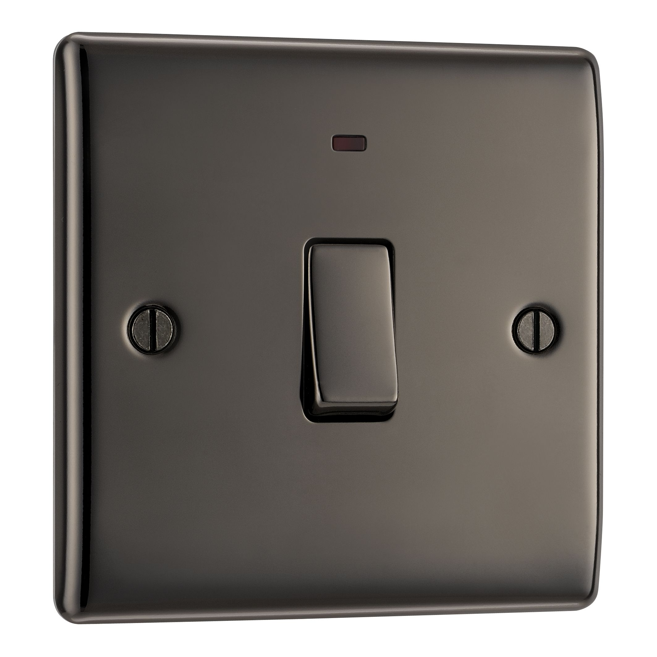 British General 20a Single Black Nickel Light Switch