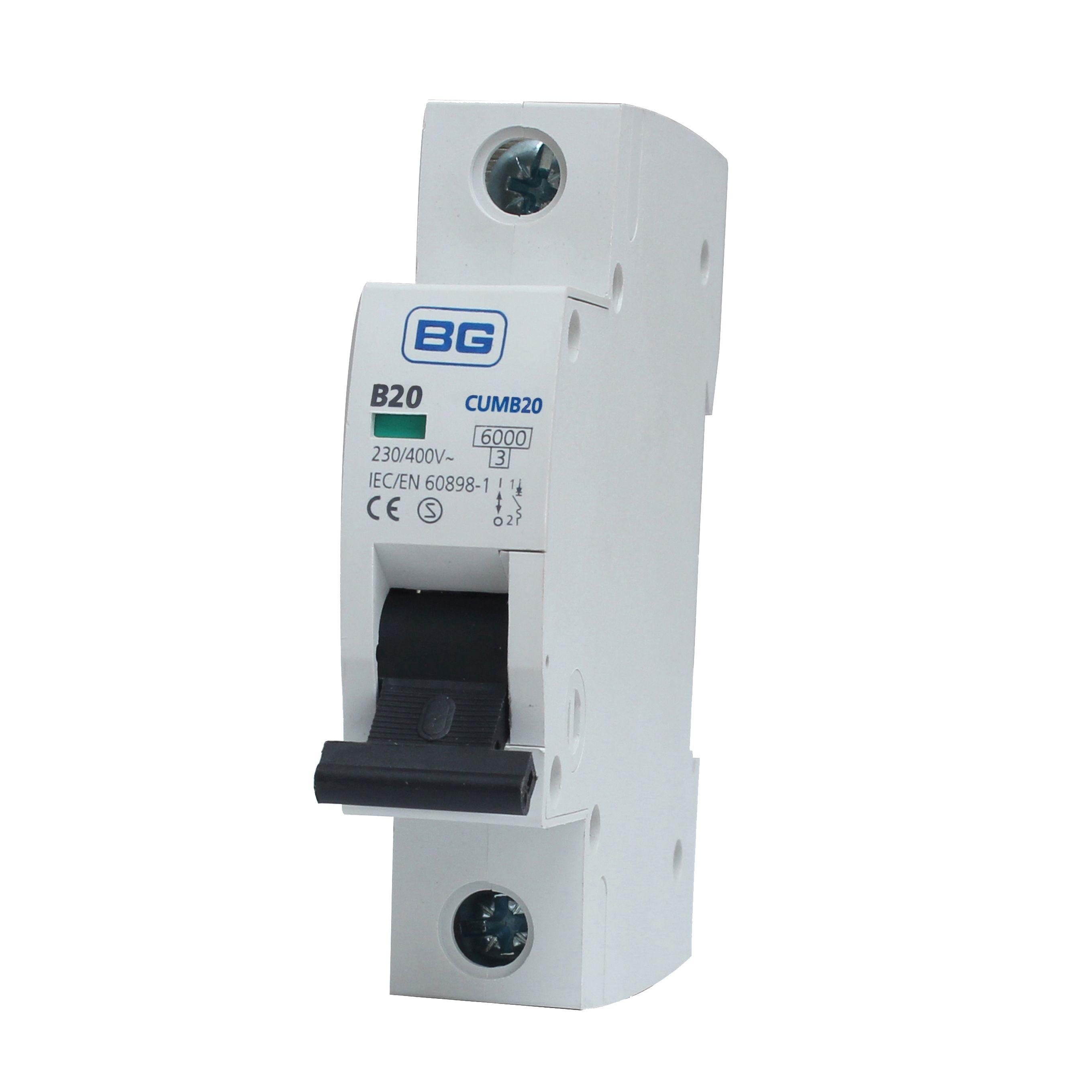 Bg 20a Mcb Miniature Circuit Breaker Departments Diy