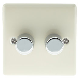 British General 2-Way Double Cream Dimmer Switch