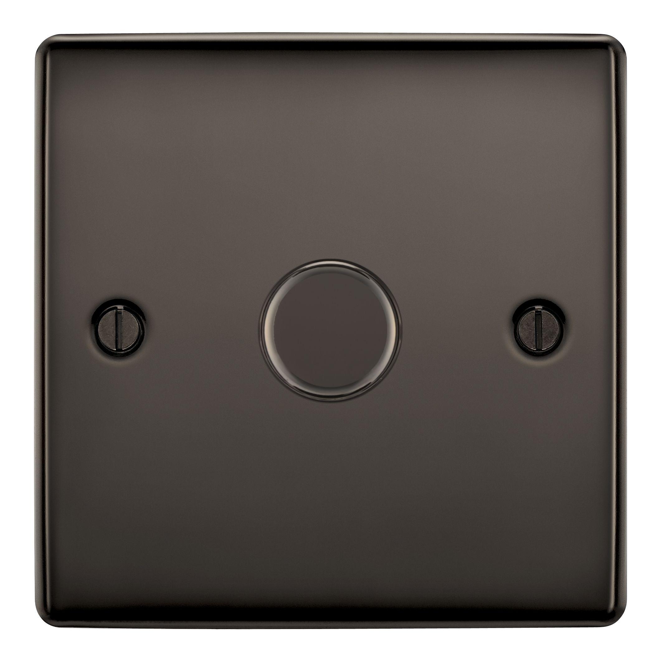 British General 2-way Single Black Nickel Dimmer Switch