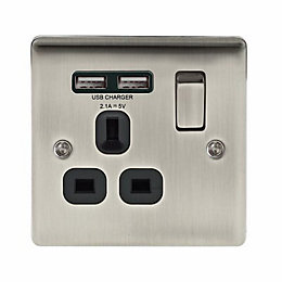 British General 13A Iridium Effect Switched Socket &