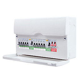 BG 100A 10-Way Metal Enclosure Consumer Unit
