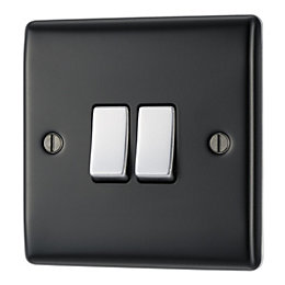 British General 10AX 2-Way Double Black Switch
