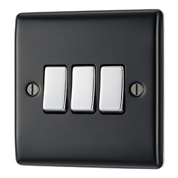 British General 10AX 2-Way Triple Black Switch