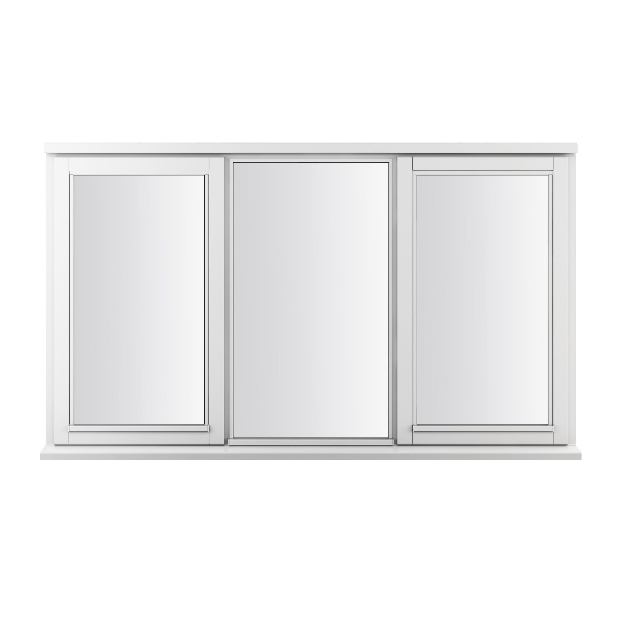 Double glazed timber side hung casement window h 1045mm for Double casement windows