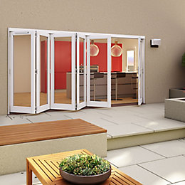White Timber Glazed Patio Patio Door, (H)2094mm (W)4794mm