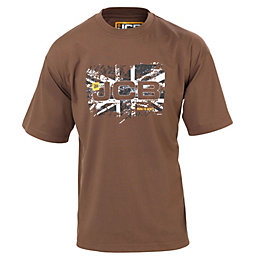 JCB Sand Heritage T-Shirt Medium