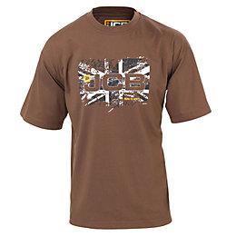 JCB Sand Heritage T-Shirt Medium