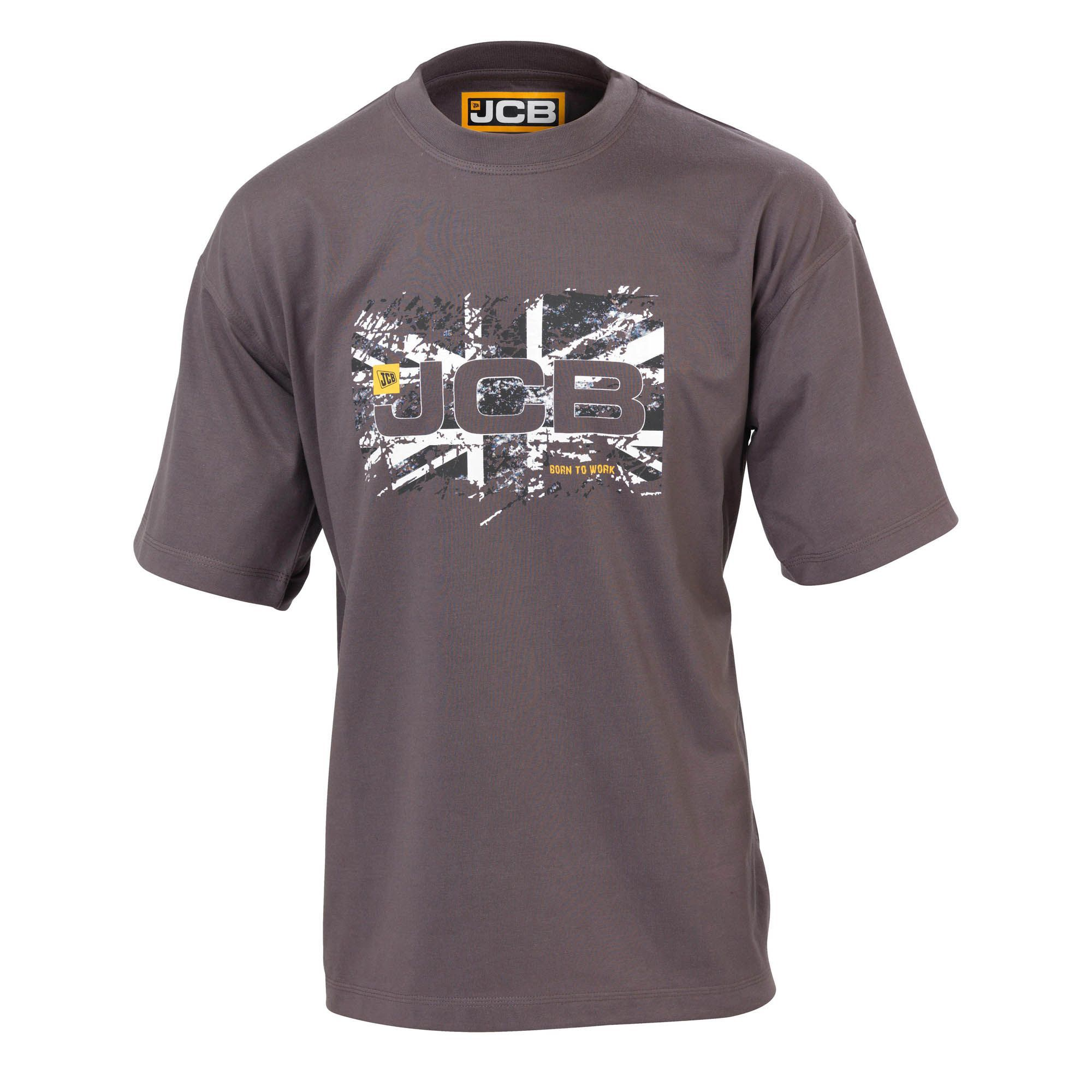 Jcb Grey Heritage T-shirt Medium