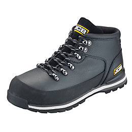 JCB Black Embossed Leather Steel Toe Cap Hiker