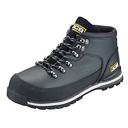 JCB Black Embossed Leather Steel Toe Cap Hiker