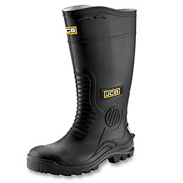 JCB Black PVC Steel Toe Cap Hydromaster Wellingtons,