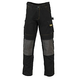 "JCB Cheadle Pro Black Work Trousers W44"" L32"""